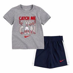 Nike catch me boy shorts set 2042